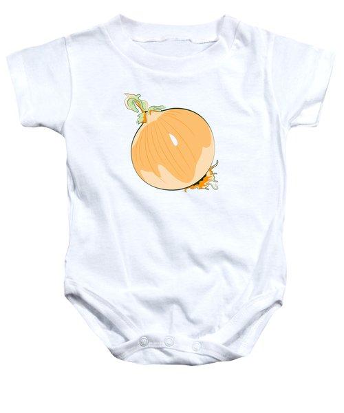 Yellow Onion Baby Onesie