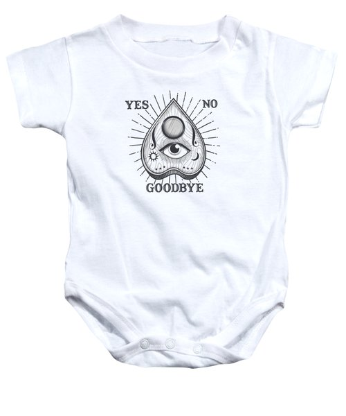 Yes No Goodbye Magic Ouija Vintage Planchette Design Baby Onesie
