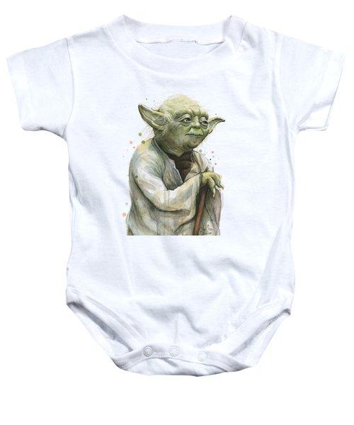 Yoda Portrait Baby Onesie