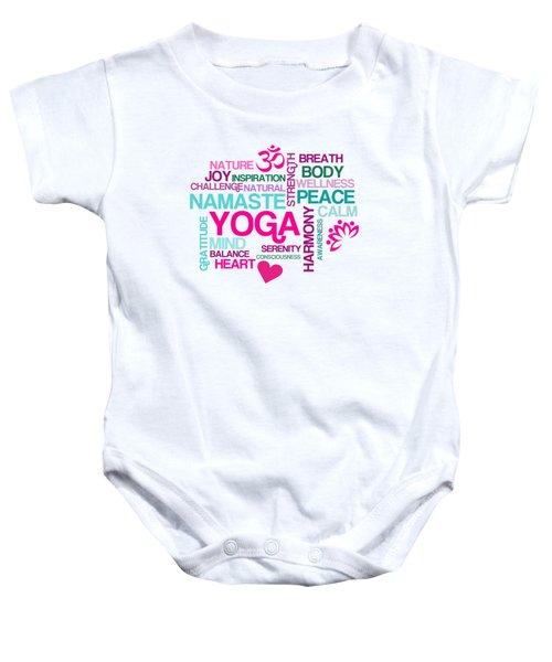 Yoga Studio Pastel Harmony Baby Onesie