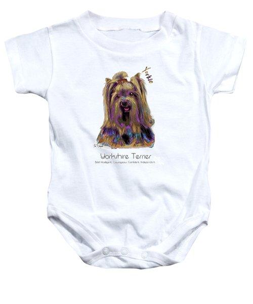 Yorkshire Terrier Pop Art Baby Onesie