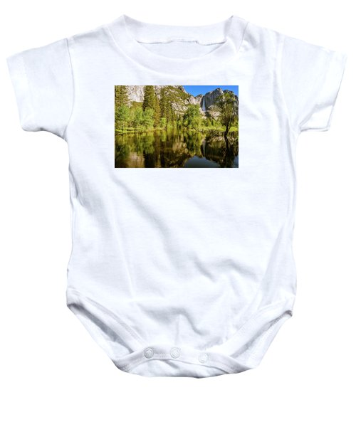 Yosemite Reflections On The Merced River Baby Onesie