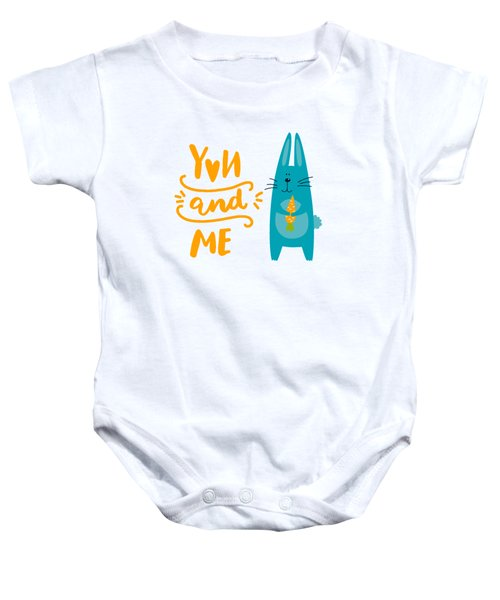You And Me Bunny Rabbit Baby Onesie by Edward Fielding