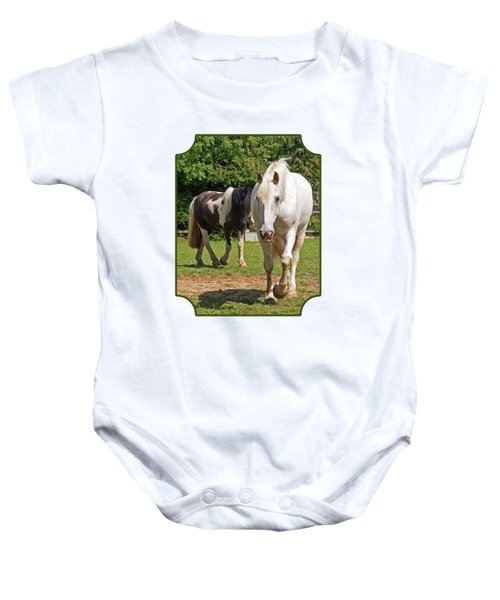 You Lead I'll Follow - Horse Friends Baby Onesie
