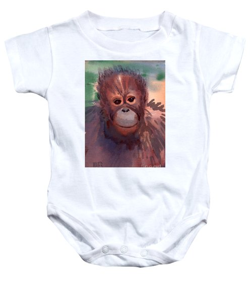 Young Orangutan Baby Onesie by Donald Maier