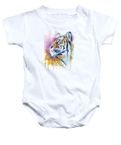 Young Tiger Portrait Baby Onesie