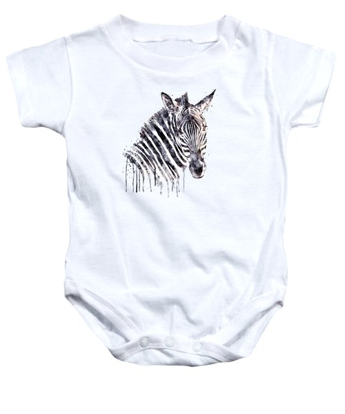 Zebra Head Baby Onesie by Marian Voicu