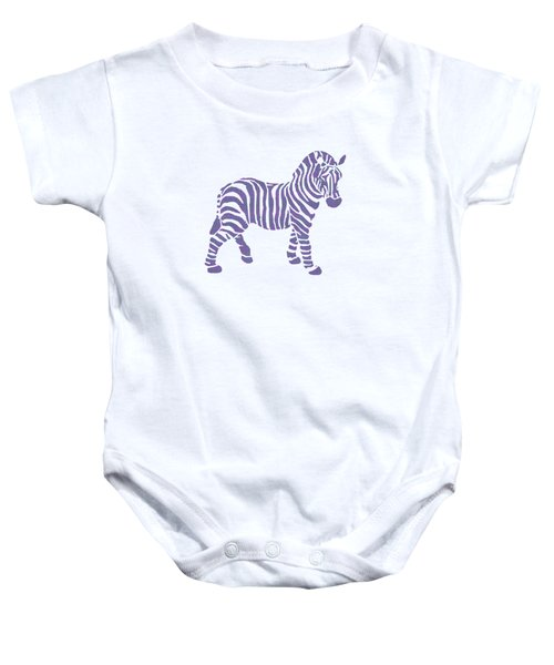 Zebra Stripes Pattern Baby Onesie by Christina Rollo