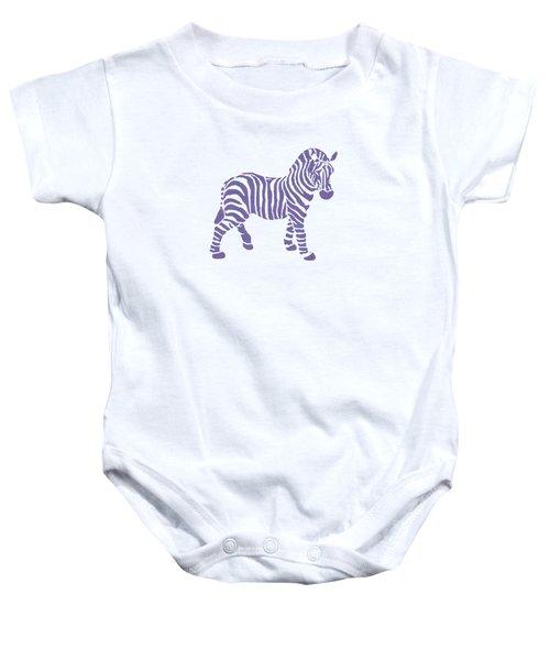 Zebra Stripes Pattern Baby Onesie