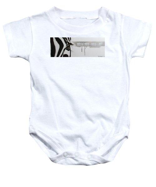 Zebra Tears Baby Onesie