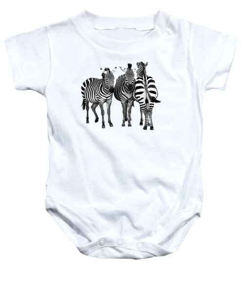 Zebra - Three's A Crowd Baby Onesie