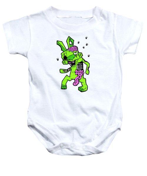 Zombunnie Baby Onesie by Bizarre Bunny