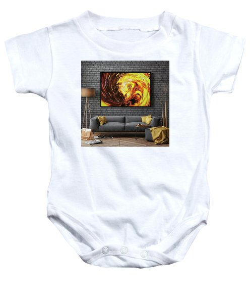Abstract Gold Swirl Baby Onesie