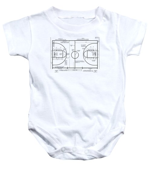 Basketball Court Baby Onesie