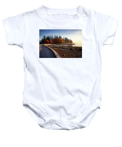 Colorful Autumn Foliage At Stanley Park Baby Onesie