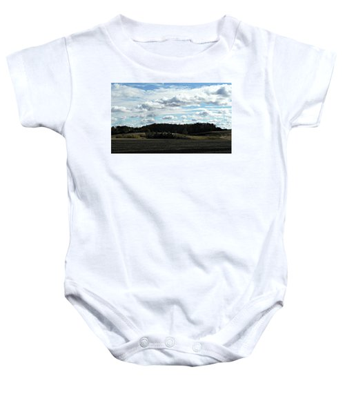Country Autumn Curves 3 Baby Onesie