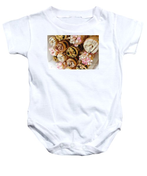 Donuts Of Different Flavors, To Put On An Unhealthy Diet Baby Onesie