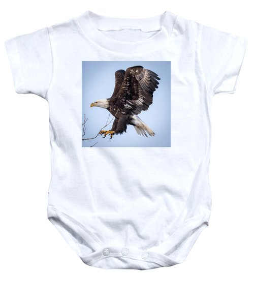 Eagle Coming In For A Landing Baby Onesie
