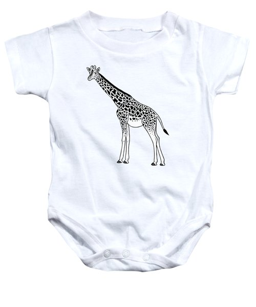 Giraffe - Ink Illustration Baby Onesie