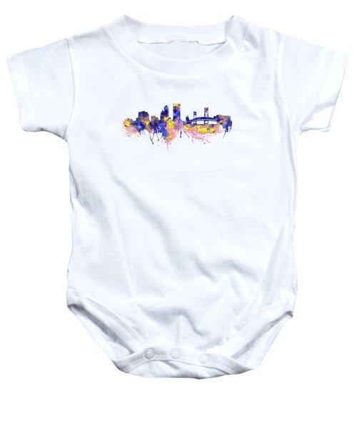 Jacksonville Skyline Silhouette Baby Onesie