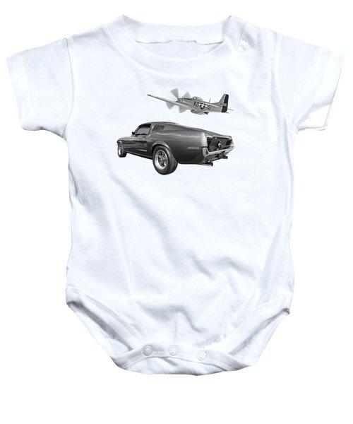 p51 With Bullitt Mustang Baby Onesie