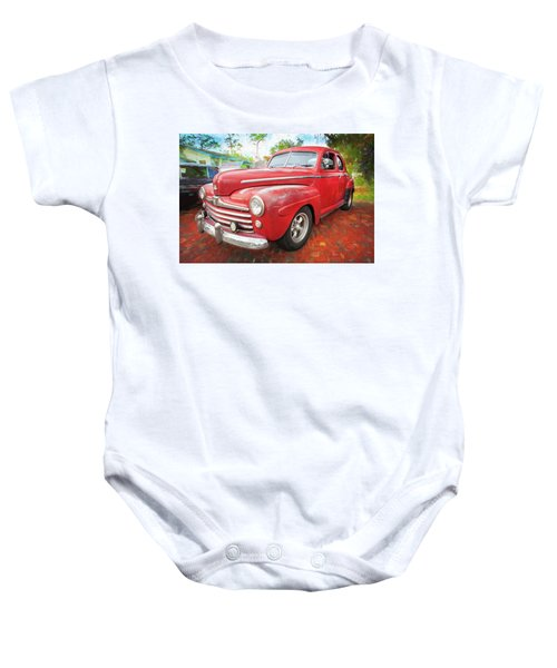 1947 Ford Super Deluxe Coupe 001 Baby Onesie