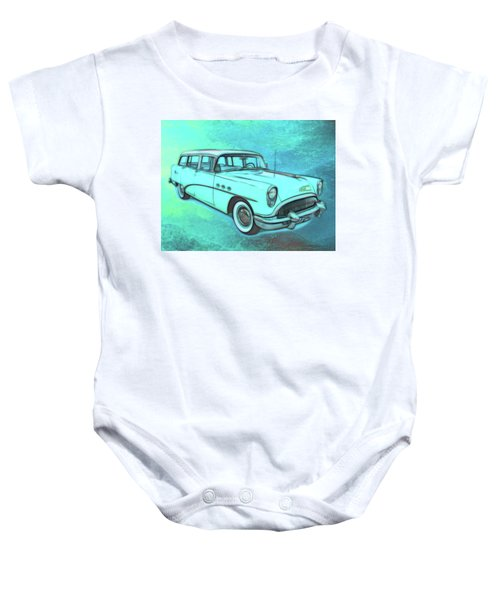 1954 Buick Wagon Baby Onesie