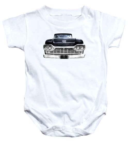 1960 Ford F100 Pick Up Head On Baby Onesie