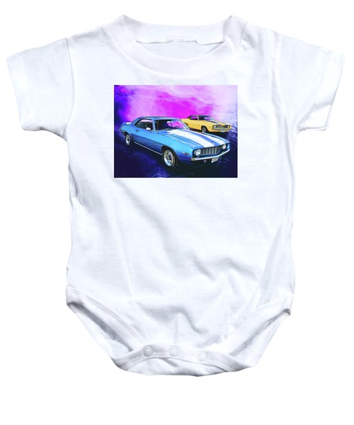 2 Camaros Baby Onesie
