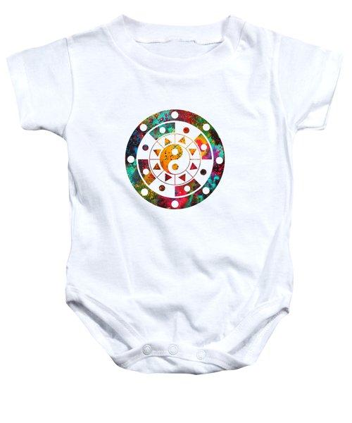 Mandala-colorful Baby Onesie