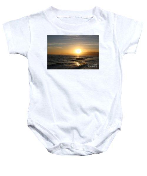 Pacific Sunset , Santa Monica, California Baby Onesie