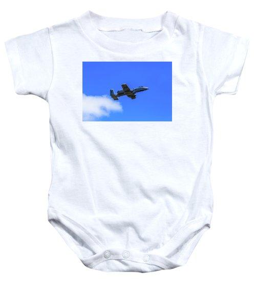 A-10c Thunderbolt II In Flight Baby Onesie