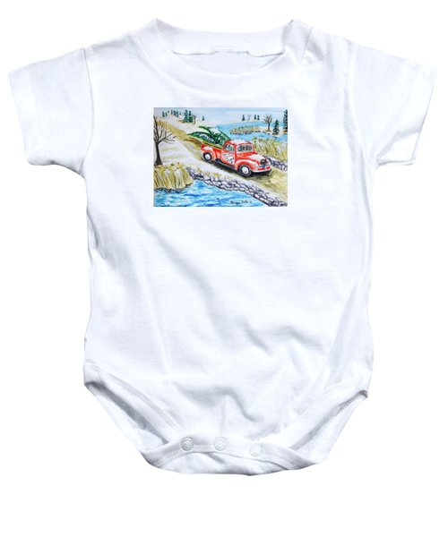 A Cape Cod Christmas Baby Onesie