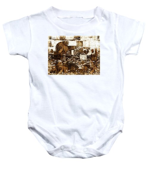 Abstract Map Baby Onesie