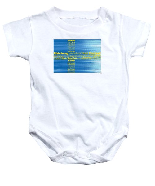 Abstract Swedish Flag  Baby Onesie