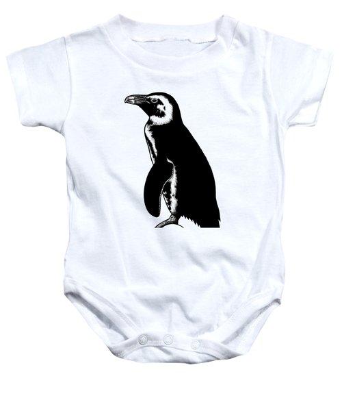 African Penguin - Ink Illustration Baby Onesie