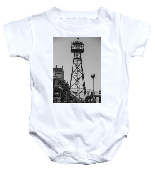 Alcatraz Light House Baby Onesie