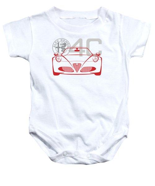 Alfa Romeo 4c-2 Baby Onesie