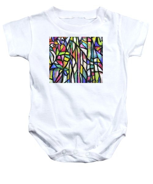 Abstract Forest Baby Onesie