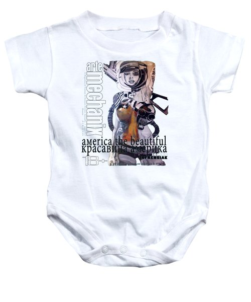 arteMECHANIX 1913 AMERICA THE BEAUTIFUL GRUNGE Baby Onesie