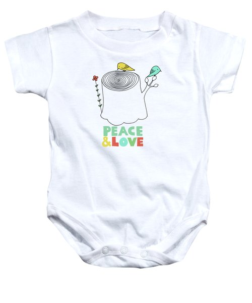 Peace And Love Baby Onesie