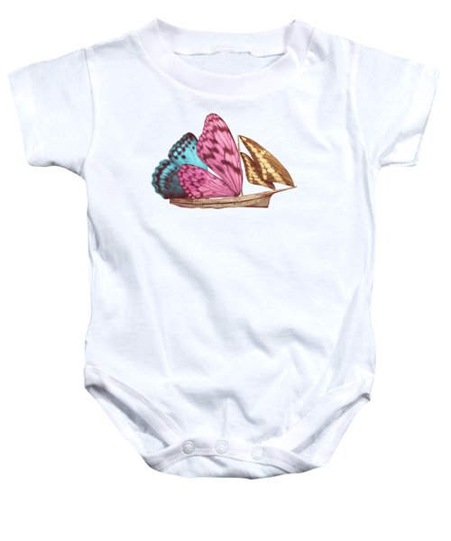 Butterfly Ship Baby Onesie