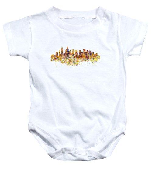 Charlotte Watercolor Skyline Baby Onesie