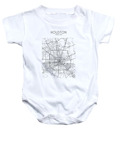 Houston Street Map Baby Onesie