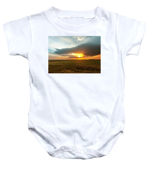 As The Sun Is Setting Baby Onesie