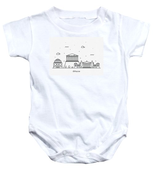 Athens Cityscape Travel Poster Baby Onesie