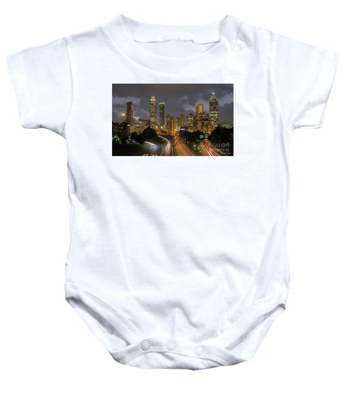 Atlanta From The Bridge Atlanta Sunset Cityscape Art Baby Onesie