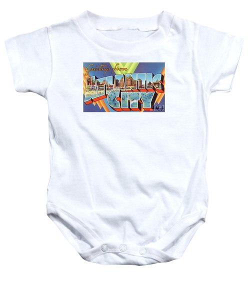 Atlantic City Greetings #4 Baby Onesie