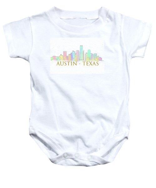 Austin Skyline Baby Onesie