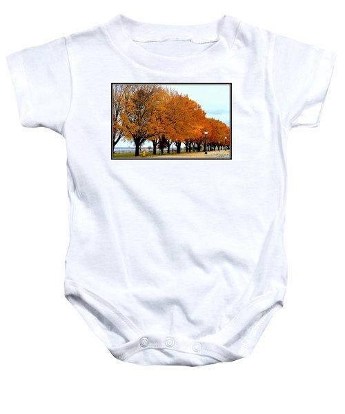 Autumn Leaves In Menominee Michigan Baby Onesie
